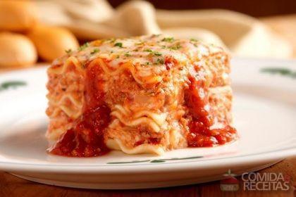 receita de lasagna classico comida  receitas