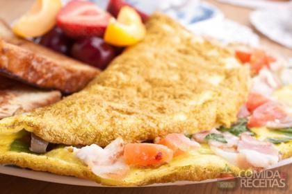 Imagem ilustrativa após resultado da receita que ensina como fazer omelete no microondas.