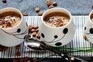 Creme de cogumelo com café