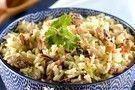 Arroz de coco com sardinha