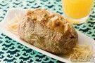 Batata recheada com molho tipo strogonoff com atum
