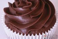 Cupcake de chocolate com cobertura cremosa
