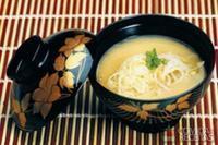 Missô shiru de moyashi e repolho