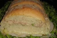 Sanduíche de metro de atum