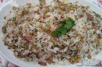 Arroz com lentilha e bacon