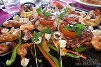 Frutos do mar grelhados com molho