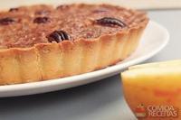 Tarte de maçã, noz pecã e mel