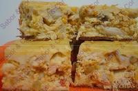 Torta cremosa de frango com palmito