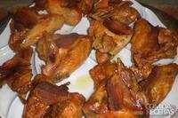 Asa de frango com bacon