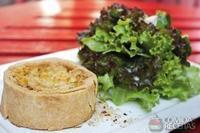 Tarte de alho poró com cream cheese