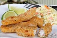Isca de peixe à milanesa