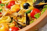 Paella de forno