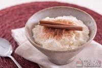 Arroz doce com cream cheese