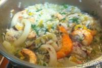 Paella rei do camarão