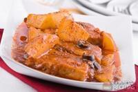 Batatas ao molho de tomate