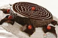 Bolo especial de chocolate com cobertura