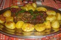 Maminha assada com batata