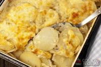 Batata gratinada ao parmesão