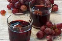 Chá de gengibre com suco de uva