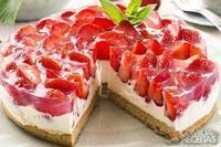 Cheesecake light de morango