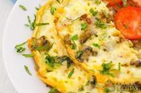 Omelete de cogumelos