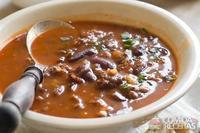 Sopa cubana de feijão preto