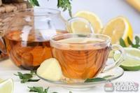 Chá de maçã com limão ou laranja