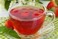Chá mate com morango