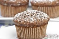 Muffin de banana e chocolate