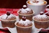 Muffins de chocolate com passas ao rum