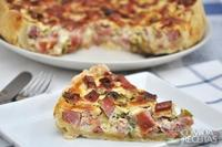 Quiche de bacon e azeitona