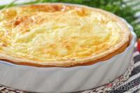 Torta de palmito e queijo