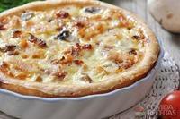Torta de peito de peru e queijo