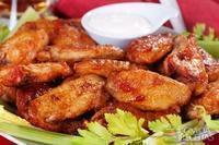 Asas de frango com gengibre