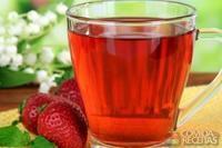 Chá gelado com frutas