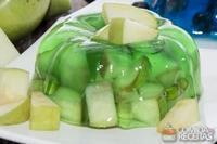 Espuma de maçã verde