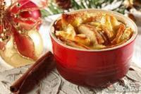 Rabanada com maçã e creme brulée