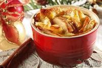 Rabanada com maçã e creme brullé