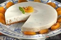 Cheesecake de nozes e damasco