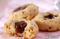 Biscoito de amêndoas com chocolate
