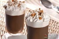 Café mocha gelado com gianduia