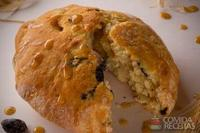 Pão de azeite com azeitonas pretas