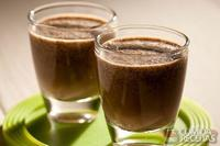 Cappuccino light com lima da Pérsia e chia