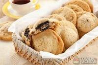 Crocante recheado de biscoito de chocolate