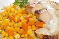 Frango grelhado com seleta de milho
