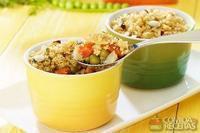 Seleta de legumes com farofa crocante