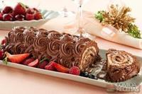 Rocambole de chocolate e nozes