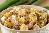 Salada de maionese mandioquinha e sardinha