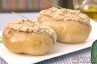 Baked potato recheada de sardinha