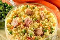 Couscous marroquino com atum